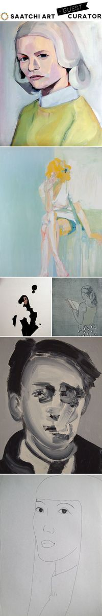 Whenever I don't have a post lined up for the next morning, I pop over to Saatchi Art and search for �€œportraits�€�€� I am never ever disappointed! So when Saatchi
