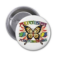 Autism Awareness Butterfly Pinback Buttons