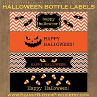 Halloween Water Bottle Label Printable ~ Instant Download