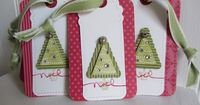 Cute Christmas tags made with SU Two Tags die and Pennant Parade