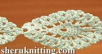 Crochet Pineapple Stitch Lace Tape Tutorial 14 Crochet Lace Pattern - YouTube