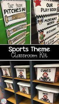 This sports theme kit is cute and includes everything you need to decorate and organize your sports themed classroom! Plus, it is editable!