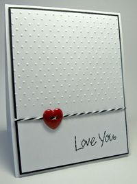 simple, easy, use buttons, yup Love You - Card