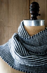 Add a pop of pattern to your outfit with this reversible stripes slip-stitch scarf by Perl Bee. We're thinking red and cream -- which color scheme grabs you?
