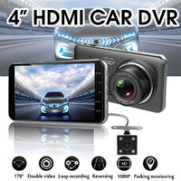 D207 4 Inch 1080P Car DVR Video Voice Recording with Rear View Camera