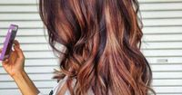 Awesome three-dimensional brunette with red highlights!! I've tried for this sooo many times but it always turns out to blended... Glad to finally have a pic!