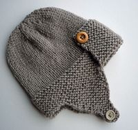 Aviator Hat Knitting Pattern Baby to Child sizes (pdf) - Regan. via Etsy.