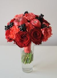 wedding bouquet with apples