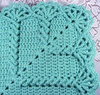 A new Baby Afghan Pattern! We are adding new crochet patterns all the time, so check back soon! ~ ~ ~ ~ ~ ~ ~ MATERIALS: 12 oz Worsted Weight Yarn HOOK SIZE: si
