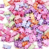 Pack of 100 Assorted Colours Acrylic Bunny Rabbit Spacer Beads. Animal Charms. 12mm x 8mm £8.99