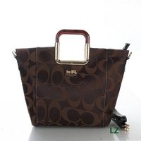 Coach Logo Monogram LZ517 Hobo Bag In Coffee
