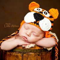 crochet patterns, hat patterns and tigers.