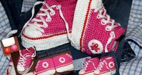 Sneaker Booties free crochet Master Class tutorial and graph pattern