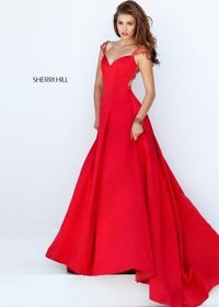 Cheap Sherri Hill 50229 Lovely Jeweled Illusion Ball Gown