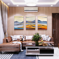 Framed painting 3 pieces Wall art Modern Abstract mountains paintings on canvas extra Large wall art set of 3 wall art Cuadros abstractos $163.53
