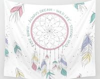 Watercolor Dream Catcher Tapestry Wall Hanging Meditation Yoga Grunge Hippie $60.00