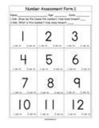 Numbers and Counting for Preschool, pre-K and Kindergarten