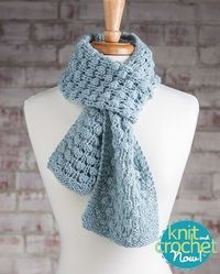 Free Bubble Wrap Scarf Knit Pattern Download -- Designed by KCN Design Team. Featured in Season 5, episode 504, of Knit and Crochet Now! TV. Download here: http://www.knitandcrochetnow.com/bubble-wrap-scarf-knit-and-crochet-now-season-5-episode-504/