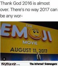 2016 is almost over funny meme #funny #humor #meme #lol #PMSLweb
