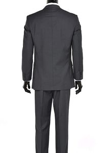 Mens Three Piece Two Button Modern Fit Italian Styled Single Breasted Suit Set | Black Gray Navy Blue Charcoal $174.99