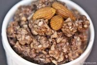 This slow cooker almond blast oatmeal tastes like candy, but is a healthy way to start your morning. Who wouldn't want to eat a breakfast that reminds them of a