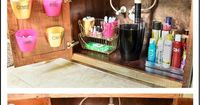Is the area under your bathroom vanity a mess? If so, this post is for you! I'm constantly in and out of the cabinet under my sink, and every day for months I'v