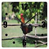 Rooster Morning Square Wall Clock