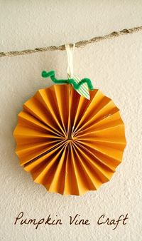 Create a beautiful fall decoration with this paper pumpkin craft for kids. Combine a few of them to make a banner and decorate your home or classroom.