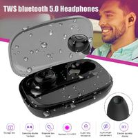 Mini TWS Wireless Stereo bluetooth 5.0 Headphone In-Ear Handsfree Sport Headset with Charging Case
