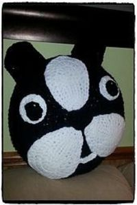 Ravelry: Boston Terrier Pillow pattern by Debby Tumillo