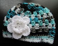 baby girl toddler adult hat crochet hat by DonnasPinsandNeedles