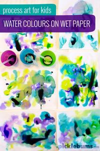 Try this easy process art for kids and really get lost in the creating and experimenting!