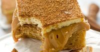 SNICKERDOODLE CARAMEL BARS on MyRecipeMagic.com. Three-layer Snickerdoodle Caramel Bars will have you head over heels! Soft, cinnamon blondies covered in smooth dulce de leche and topped with sweet white chocolate. You won't believe how good these a...