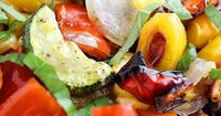 Roasted Summer Vegetables �™� red bell pepper, yellow bell pepper, zucchini, carrots, olive oil, Italian seasoning, kosher salt, freshly ground black pepper, fresh corn, yellow or red onion, minced garlic, Sargento® Shredded Reduced Fat 4 Cheese It...