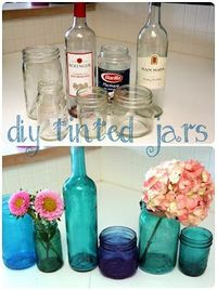 DIY Tinted Jars.