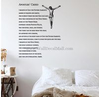 Apostles Creed Quotes Wall Decals
