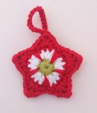 Crochet Star, free pattern by Jo Degenhart: