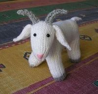 Justjen's Fester The Whole Goat. Really cute knitted goat pattern, with the option of knit or crochet horns.