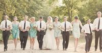 different shades in bridesmaids dresses like colors too