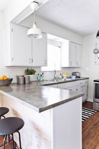 Polished concrete counters - DIY with Ardex Feather Finish