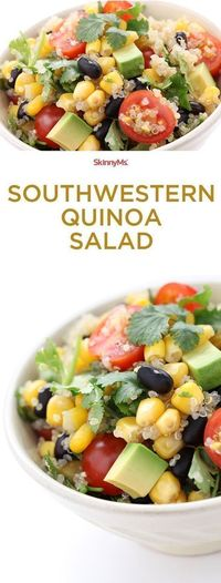 Clean eating has never tasted this delicious! Our Southwestern Quinoa Salad is loaded with nutrient-rich ingredients native to the Americas.