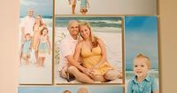 love this idea! Can do with wedding pictures first then family photos later