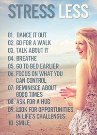 Stress Less :) (Pinned from Pink Pad, the women's health mobile app with the built-in community)