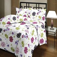 Home living Cotton Floral Designs Reversible AC Blanket/Dohar/Quilt for Home (Single, Multi-coloured) $61.49