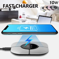 Fast Qi Wireless Charger Thin Charging Pad For iPhone 8/8P for iPhone X for Samsung S8