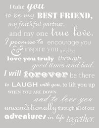 Really like these vows!