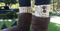 Crochet Boot Cuffs- Free Pattern!