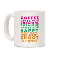 Coffee Gives You Dopamine Ceramic Coffee Mug $14.99 �œ� Handcrafted in USA! �œ� Support American Artisans