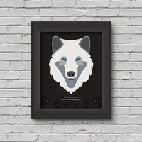 Digital Download: Totem, Wolf, Quote, Gift, Printable, Poem Poster, Minimalist, Wall Art, Decor by TheShopToAwesomeness on Etsy