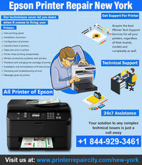 Epson Printer Repair in New York City and Epson printer repair New York City. We really want to solve every Epson printer problem in New York. You can call on +1844-929-3461.